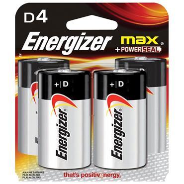 ENERGIZER Ever Ready Alkaline D Batteries, 4 Pack