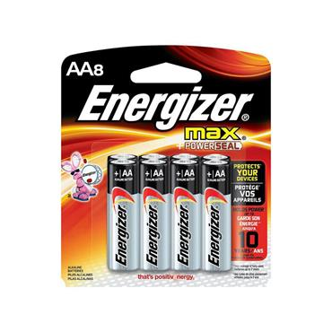 ENERGIZER E91BP-8 Ever Ready Alkaline AA Batteries, 8 Pack