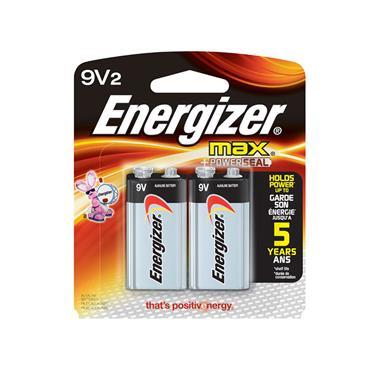ENERGIZER 522BP-2  Ever Ready Alkaline 9V Batteries, 2 Pack