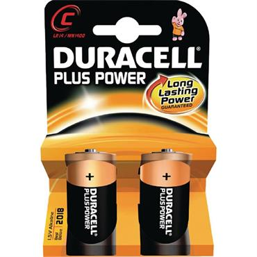 DURACELL C Size Batteries, 2 Pack
