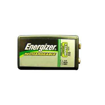 ENERGIZER NiMH 9V Rechargeable Batteries, Pack of 1