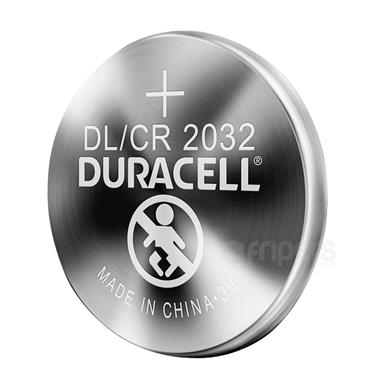 Duracell CR2032 Lithium 3 Volt Coin Battery, 2 Pack
