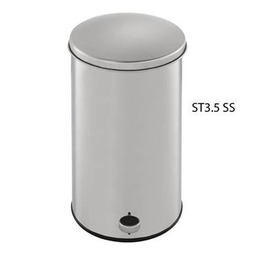 RUBBERMAID ST3.5SS 3.5-Gallon Round Step Can - Stainless Steel