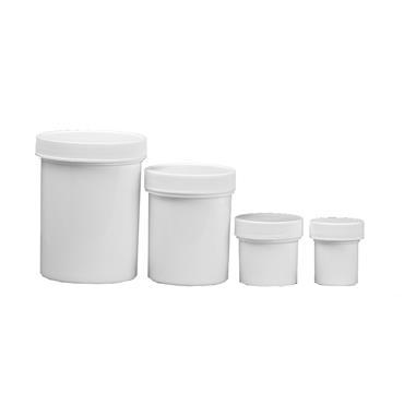 SCIENCEWARE  White Jars with Screw Caps
