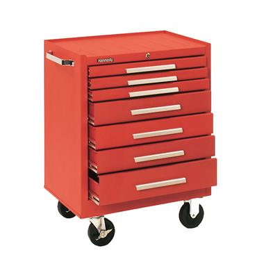 Kennedy 297 7 Drawer Roller Cabinet Smooth Red