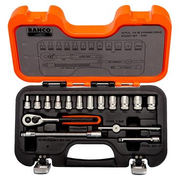 "Bahco S160 16 Piece Metric 1/4"" Drive Socket Set"