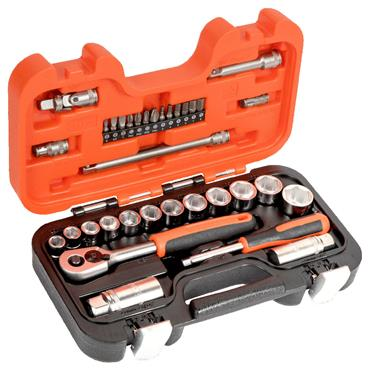 """Bahco S330 34 Piece Metric 1/4"""" and 3/8"""" Drive Socket Set"""
