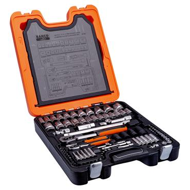 """Bahco S106 106 Piece Metric 1/4"""" and 1/2"""" Drive Socket Set"""