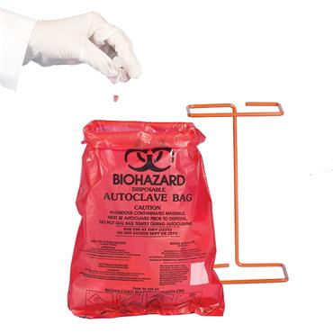 SCIENCEWARE  Bench-Top BioHazard Bag & Holder