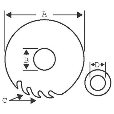 Bahco 190 x 30 x 40T, Circular Saw Blade - 8501-15F