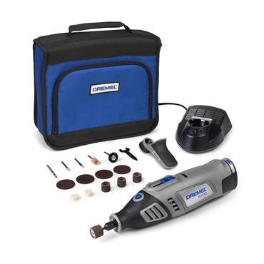 Dremel 8100 7.2 Volt Lithium-Ion Cordless Rotary Tool Kit, 1 x 1.3Ah Batteries
