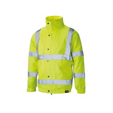Dickies SA22050 High-Visibility Waterproof Bomber Jacket - Yellow