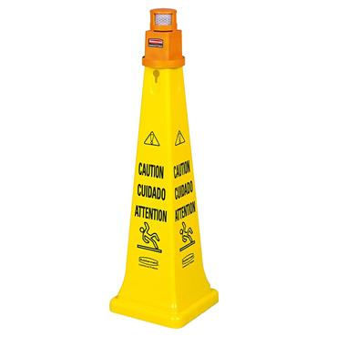 RUBBERMAID  FG628700 Safety Cones with Barrier Tape