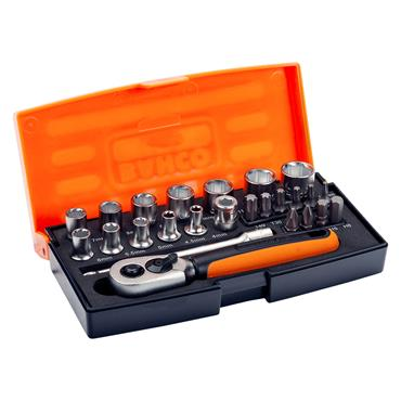 "Bahco SL25 25 Piece Metric 1/4"" Drive Socket Set"