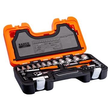 """Bahco S560 56 Piece Metric 1/2"""" and 1/4"""" Drive Sockets Set"""