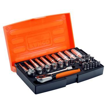 "Bahco SL25L 37 Piece Metric 1/4"" Drive Socket Set"
