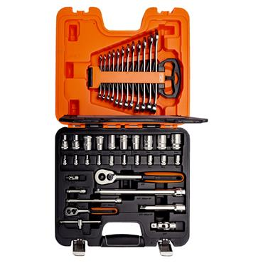 """Bahco S410 41 Piece Metric 1/2"""" and 1/4"""" Drive Socket Set"""