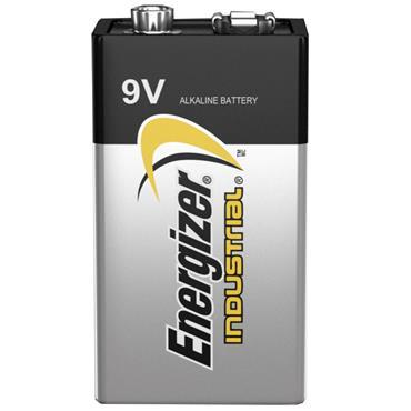 ENERGIZER 70191200 Alkaline Industrial 9 Volt Batteries, 12 Pack