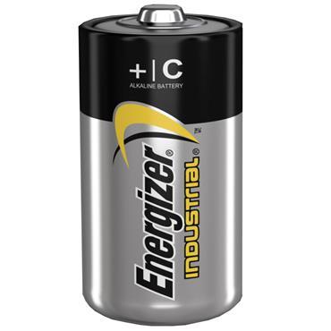 ENERGIZER 70192100 Alkaline Industrial C / LR14 Batteries, 12 Pack