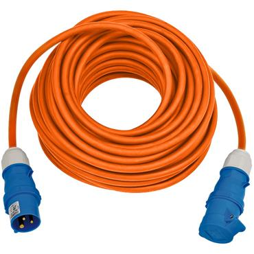 BRENNENSTUHL 1167650625 CEE Extension Cable 230V IP44 for Camping/Maritim 25m H07RN-F 3G2.5, Orange