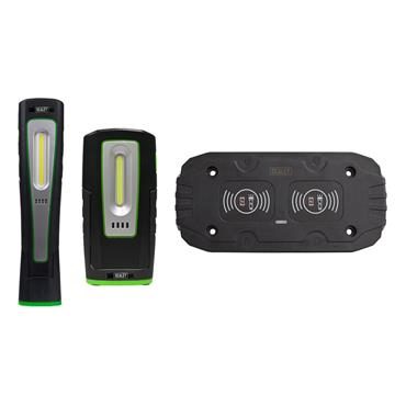 Sealey LEDWCOMBO4 Inspection Lamp 5W and Inspection Lamp 3W  and Double Wireless Charger