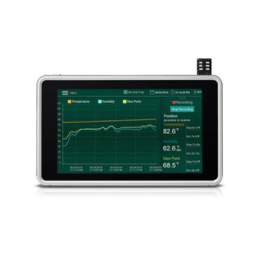 Extech RH550 Humidity/TemperatureChart Recorder with Touch-Screen