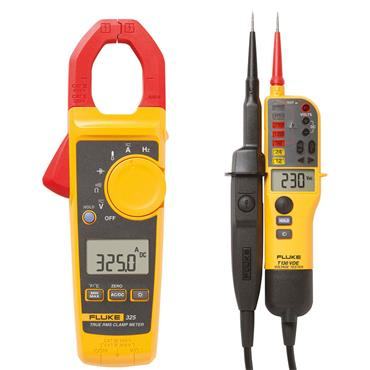 Fluke 325 True-rms Clamp Meter + T130 Electrician Kit