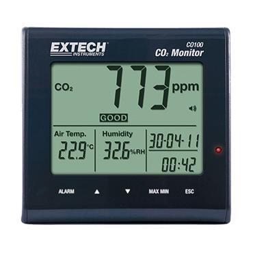 EXTECH CO100 Desktop Indoor Air Quality CO 2