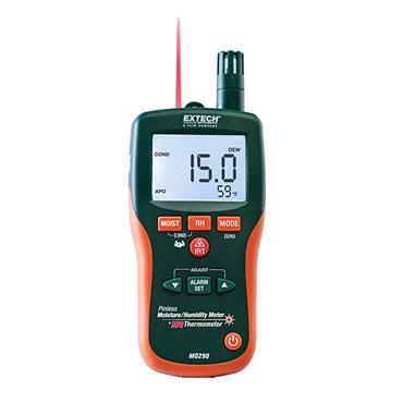 Extech MO290 Pinless Moisture Psychrometers + IR Thermometer
