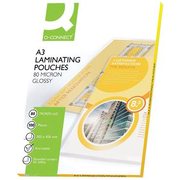 Q-Connect KF04122 A3 Laminating Pouch 160 Micron, Pack of 100