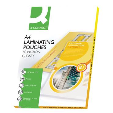 Q-Connect KF04114 A4 Laminating Pouch 160 Micron, Pack of 100