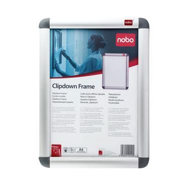 Nobo NB19410 Aluminium Clip Frame A4 Silver