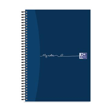 Oxford JD01403 My Notes Card Cover Wirebound A4 Notebook 100 Pages, Pack of 5