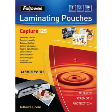 Fellowes BB53074 A4 Capture Laminating Pouch 250 Micron, Pack of 100