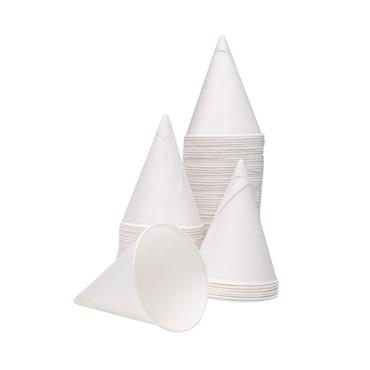 Citec CPD40115 4oz Water Drinking Cone Cup White, Pack of 5000