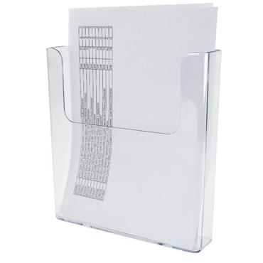 Deflecto DF76491 A4 Flat Back Literature Holder