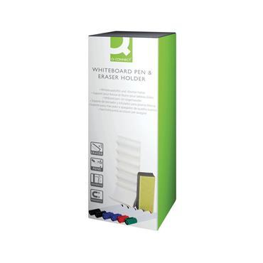 Q-Connect KF17443 Whiteboard Pen and Eraser Holder