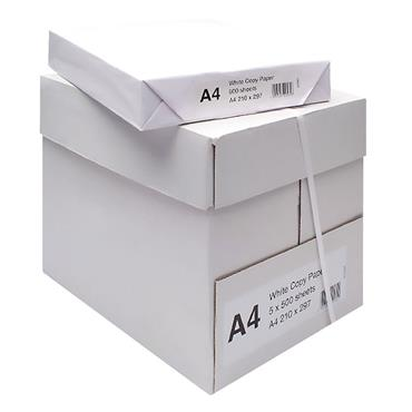 White WX01087 White A4 Copier Paper, Pack of 2500
