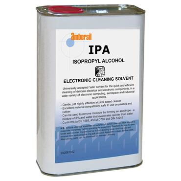 AMBERSIL 31714 IPA Isopropyl Alcohol, Electronic Cleaning Solvent, 1 Litre