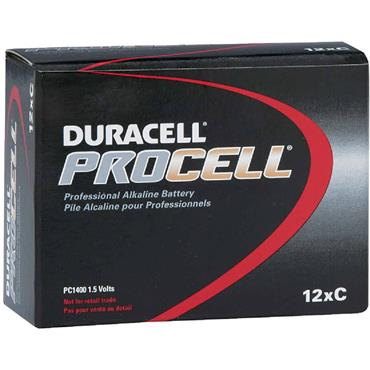 DURACELL 800734 ProCell Alkaline C Batteries, Pack of 12