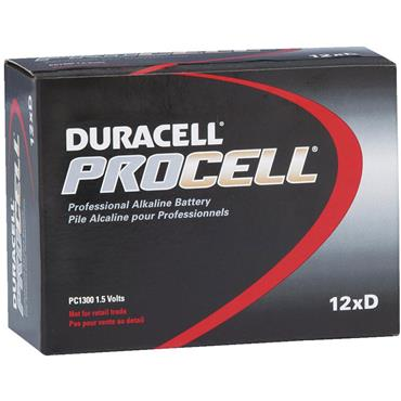 DURACELL 800725 ProCell Alkaline D Batteries, Pack of 12