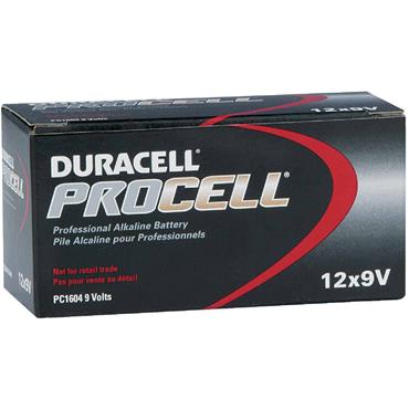 DURACELL 800743 ProCell Alkaline 9V Batteries, Pack of 12