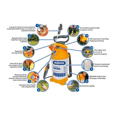 Hozelock 4312 12 Litre Pulsar Plus Pressure Sprayer