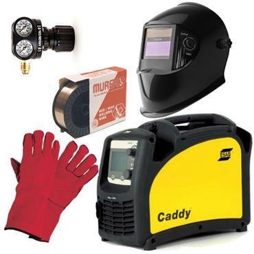 ESAB Caddy C200i MIG/MAG Welding Package with Mig Wire, Gloves and Automatic Welding Helmet
