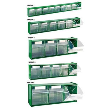 CITEC Clear View Storage Boxes - Green
