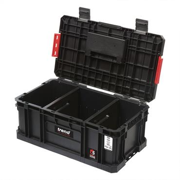 Trend 560 x 320 x 240mm Modular Storage Compact Tool Box - MS/C/200