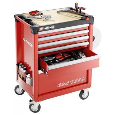 Facom CHRONO.6M3A Chrono Roller Cabinet  6 Drawer Red