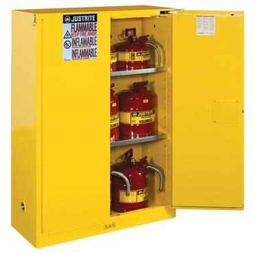 JUSTRITE Sure-Grip Safety Can Storage Flammable Cabinet - Lever Handle