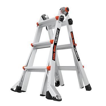 LITTLE GIANT 15413EN VELOCITY Aluminum Articulated Extendable Ladder