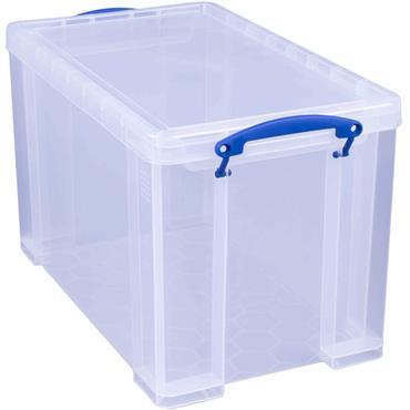 Really Useful 24 Litre Plastic Storage Box with Lid, 465 x 270 x 290mm (W x D x H)